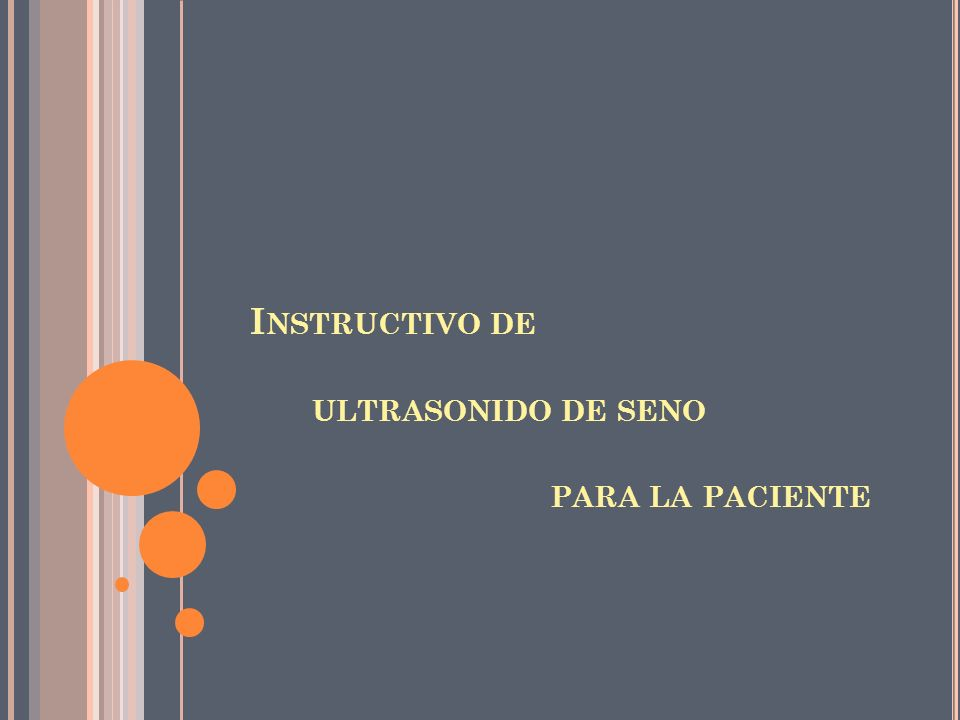 Instructivo de ultrasonido de seno para la paciente