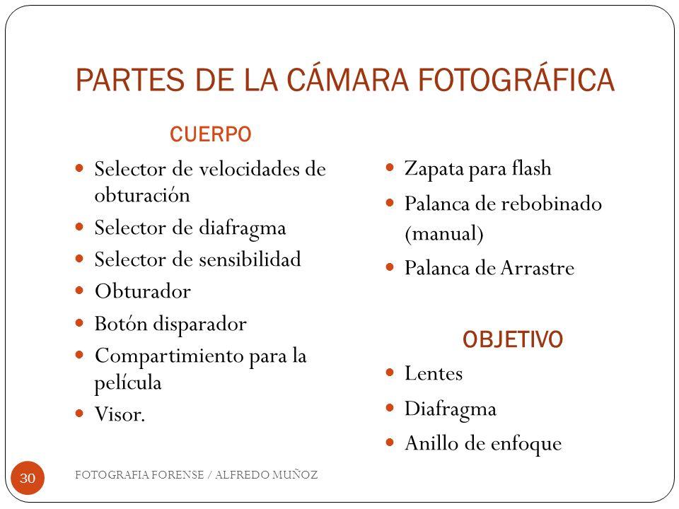 PARTES DE LA CÁMARA FOTOGRÁFICA