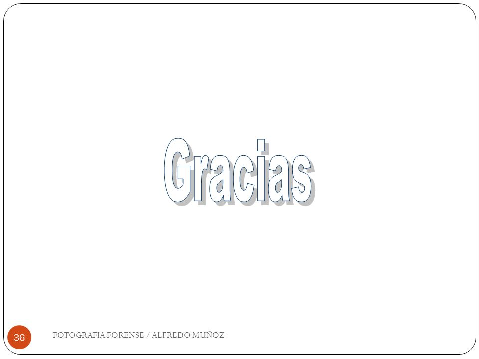 Gracias FOTOGRAFIA FORENSE / ALFREDO MUÑOZ