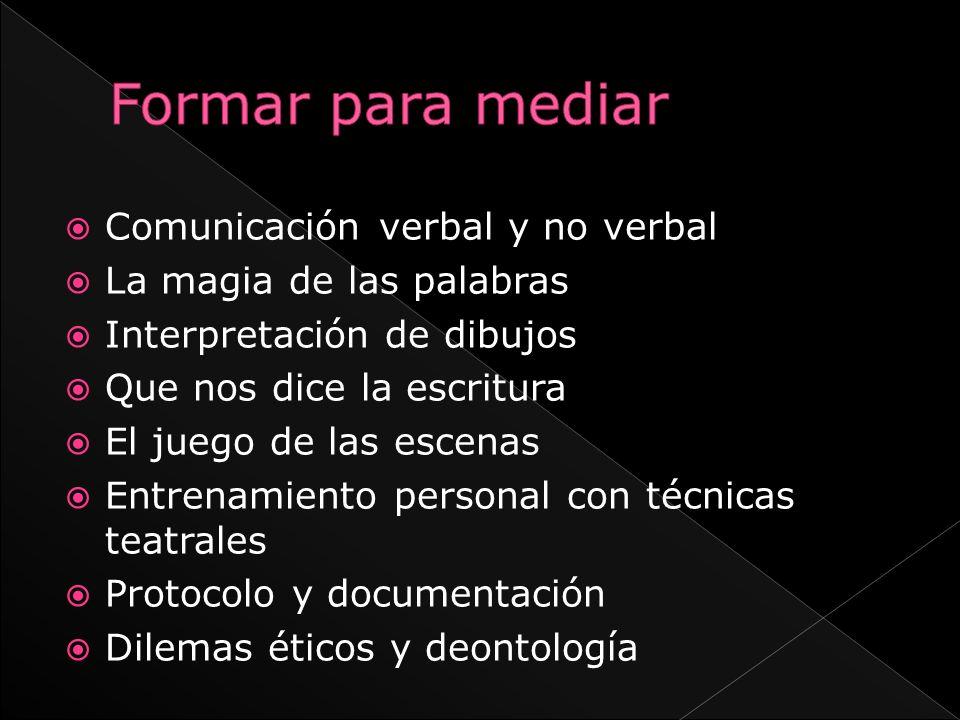 Formar para mediar Comunicación verbal y no verbal