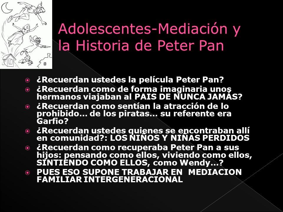Adolescentes-Mediación y la Historia de Peter Pan