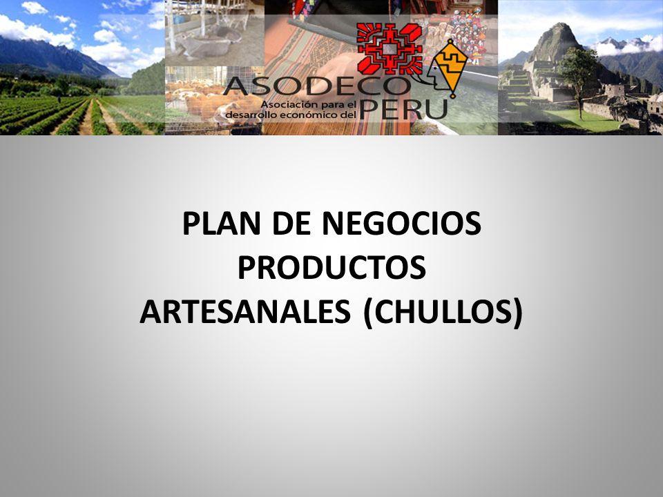 PLAN DE NEGOCIOS PRODUCTOS ARTESANALES (CHULLOS)