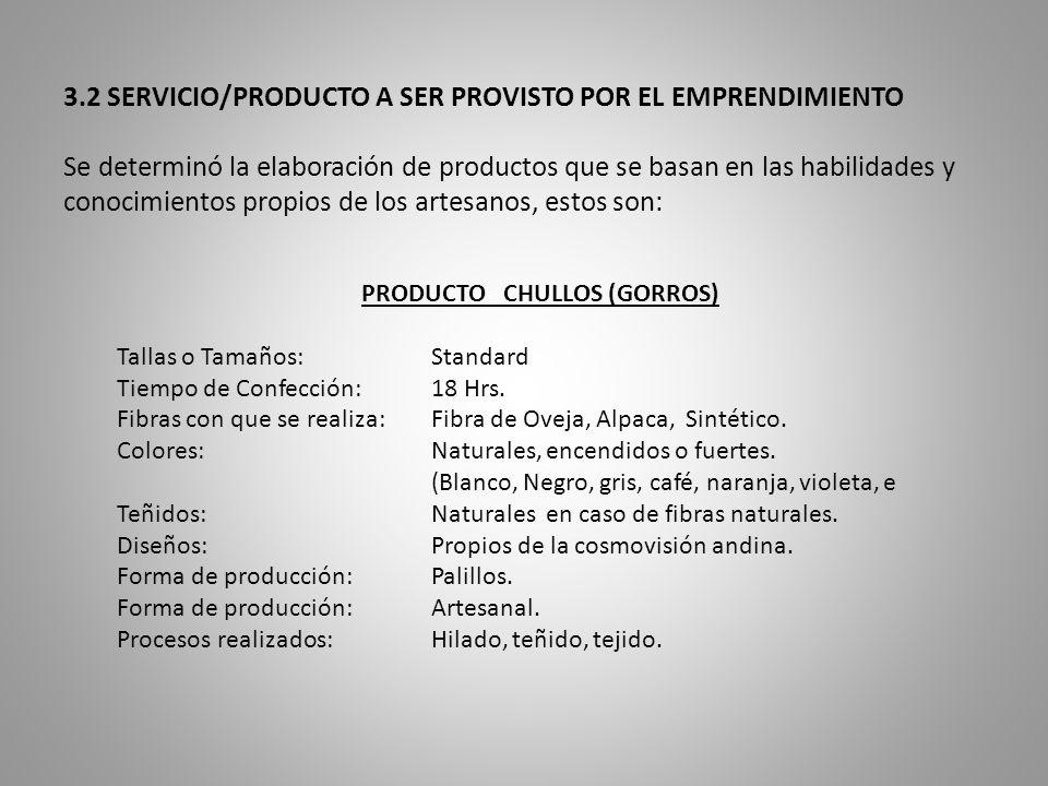 PRODUCTO CHULLOS (GORROS)
