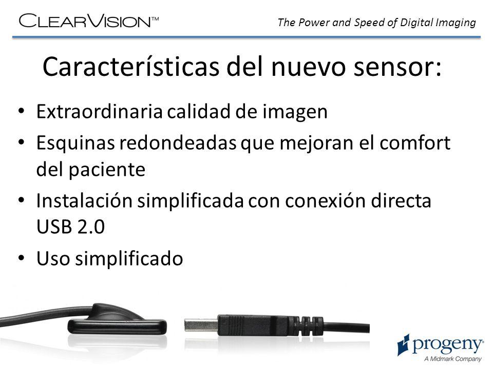 Características del nuevo sensor: