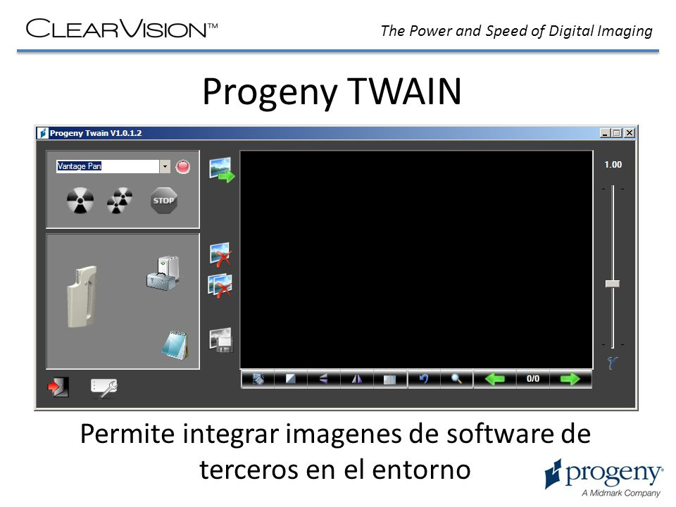 Permite integrar imagenes de software de terceros en el entorno