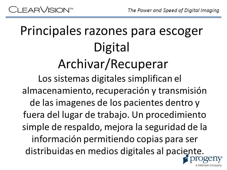 Principales razones para escoger Digital Archivar/Recuperar