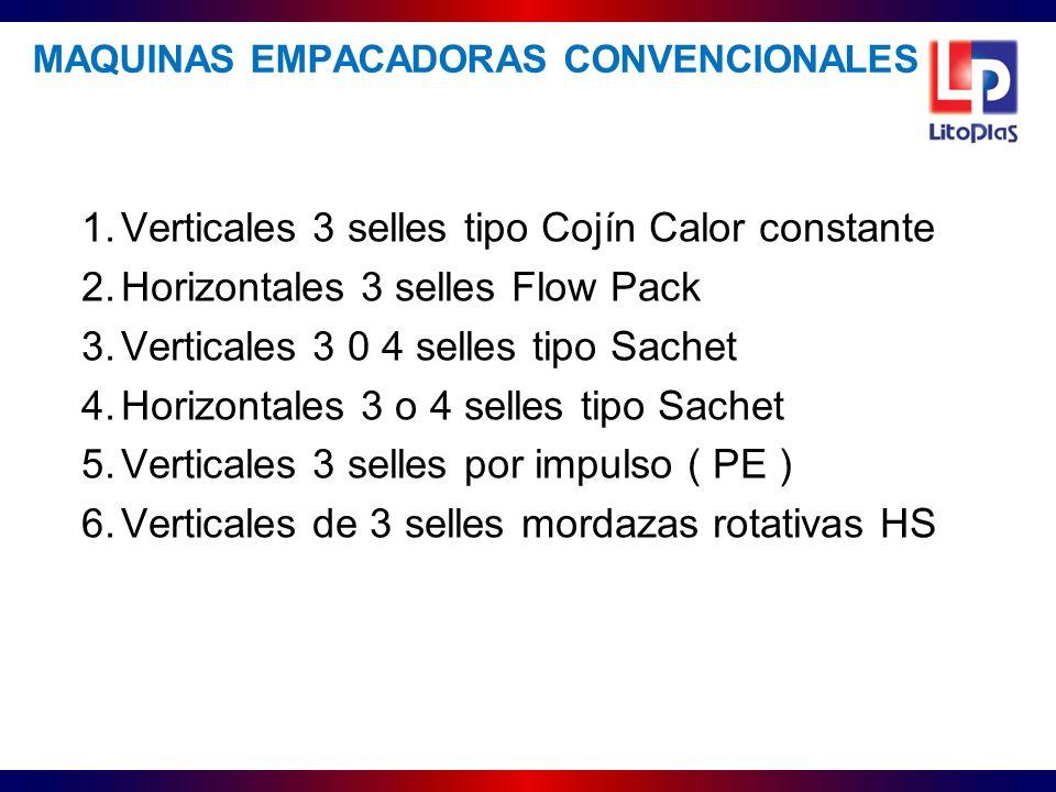 MAQUINAS EMPACADORAS CONVENCIONALES