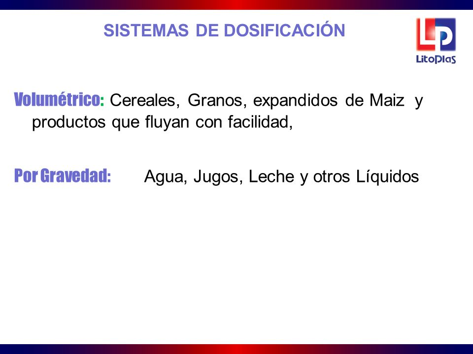 SISTEMAS DE DOSIFICACIÓN