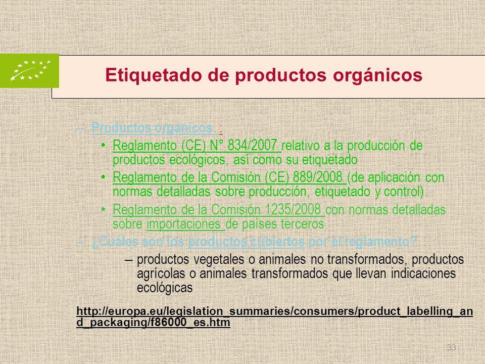 Etiquetado de productos orgánicos