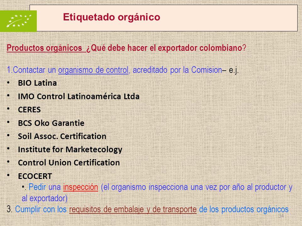Etiquetado orgánico Productos orgánicos ¿Qué debe hacer el exportador colombiano