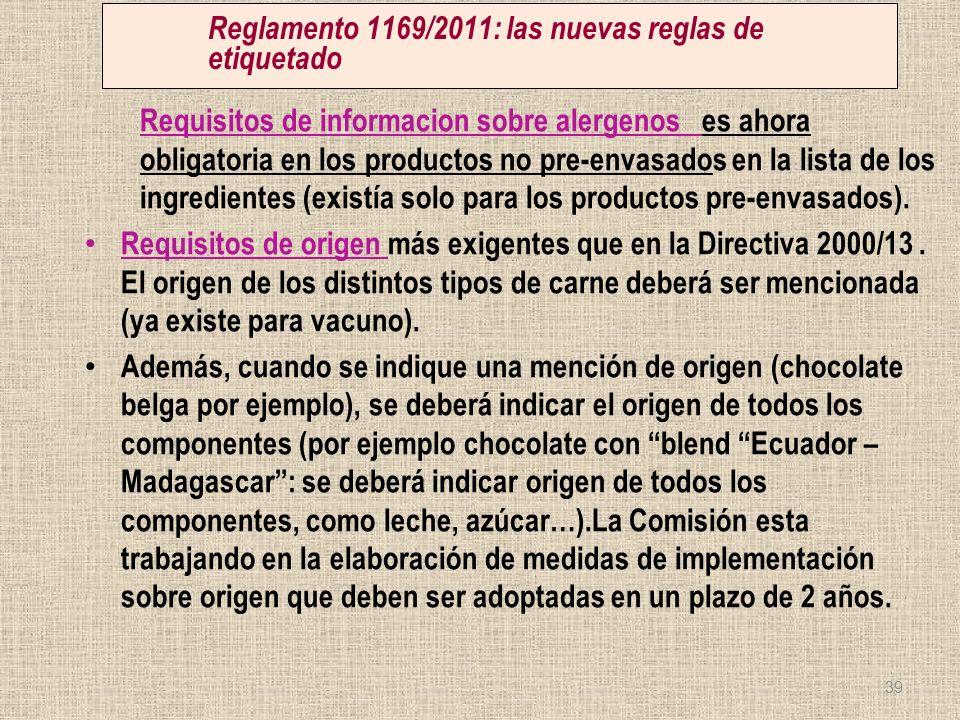 Reglamento 1169/2011: las nuevas reglas de etiquetado