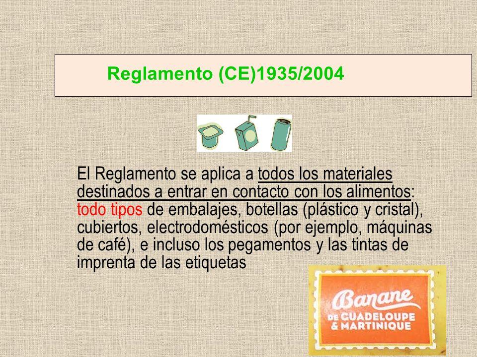 Reglamento (CE)1935/2004