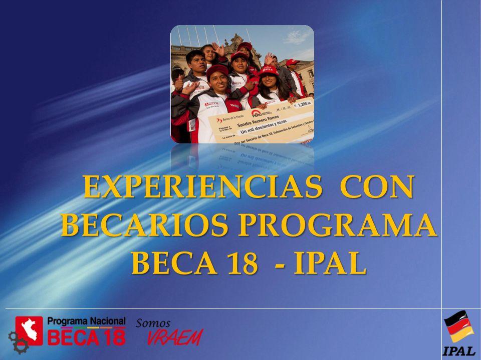 BECARIOS PROGRAMA BECA 18 - IPAL