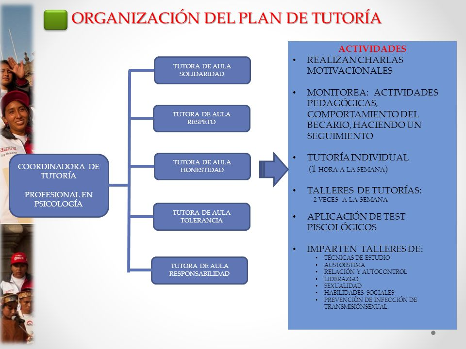 ORGANIZACIÓN DEL PLAN DE TUTORÍA