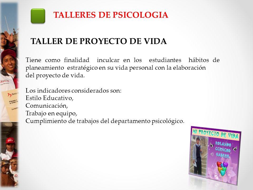 TALLERES DE PSICOLOGIA