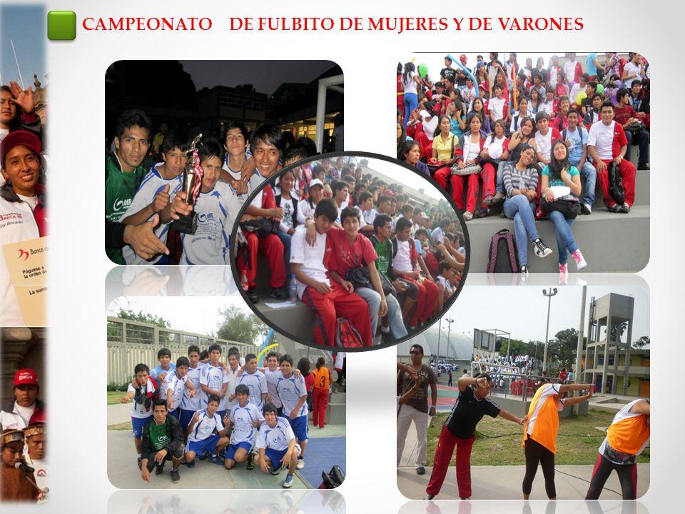 CAMPEONATO DE FULBITO DE MUJERES Y DE VARONES