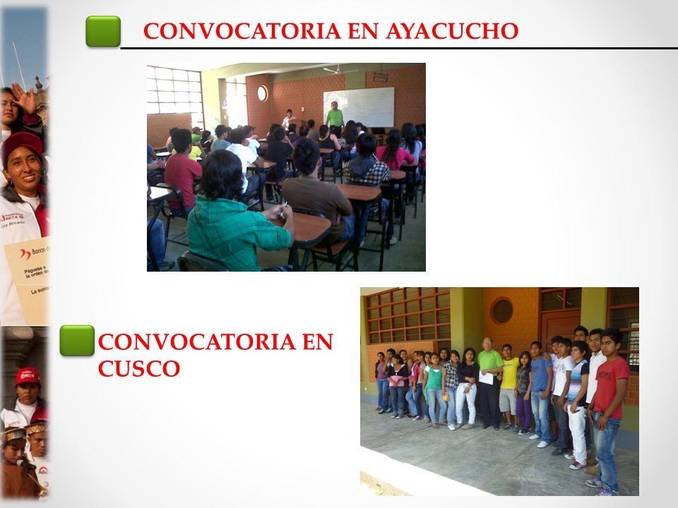 CONVOCATORIA EN AYACUCHO