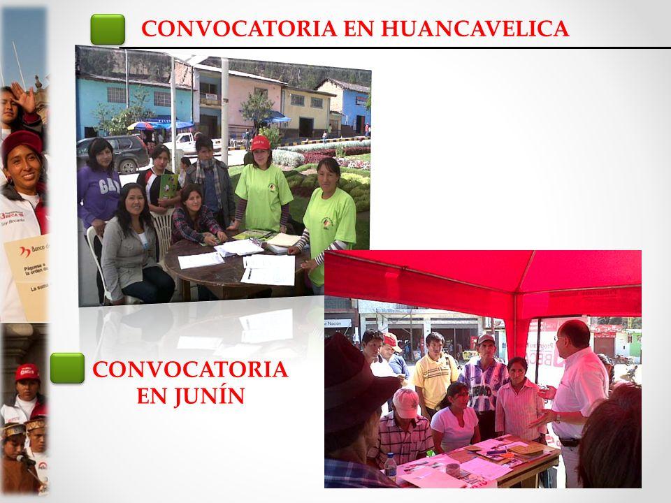 CONVOCATORIA EN HUANCAVELICA