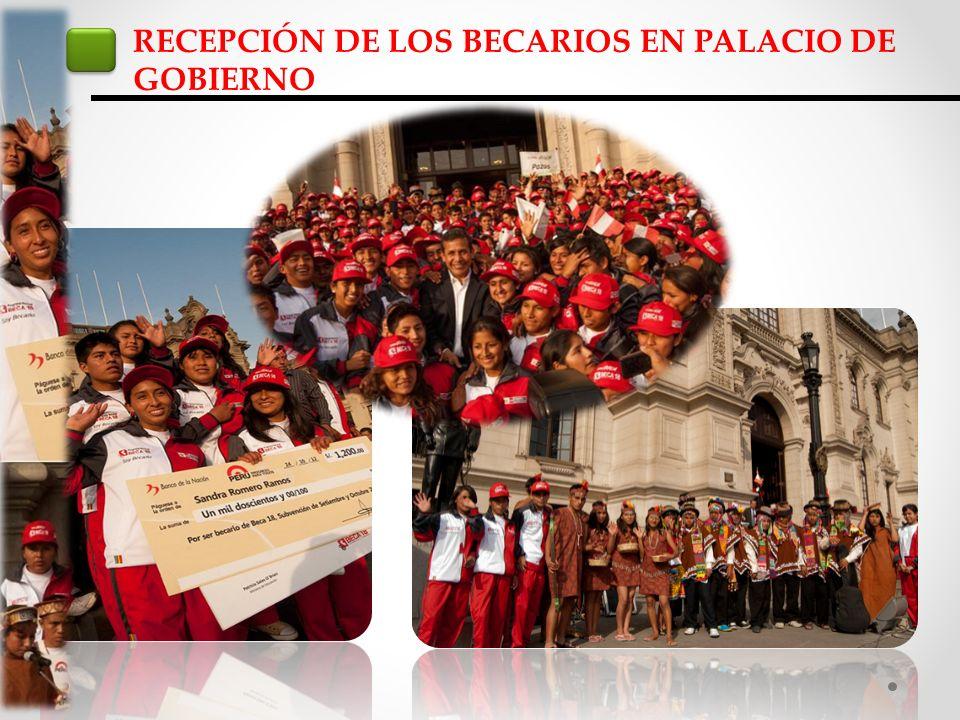 RECEPCIÓN DE LOS BECARIOS EN PALACIO DE GOBIERNO