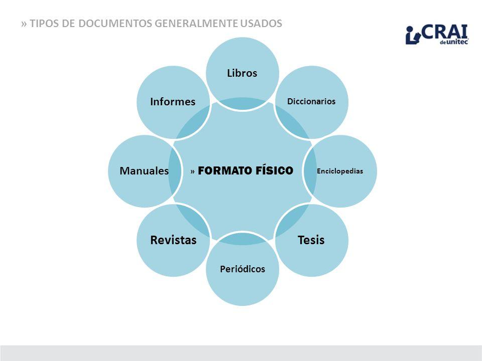 Tesis Revistas » TIPOS DE DOCUMENTOS GENERALMENTE USADOS Libros