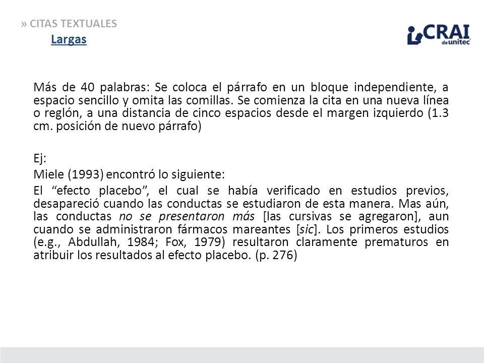 » CITAS TEXTUALES Largas.