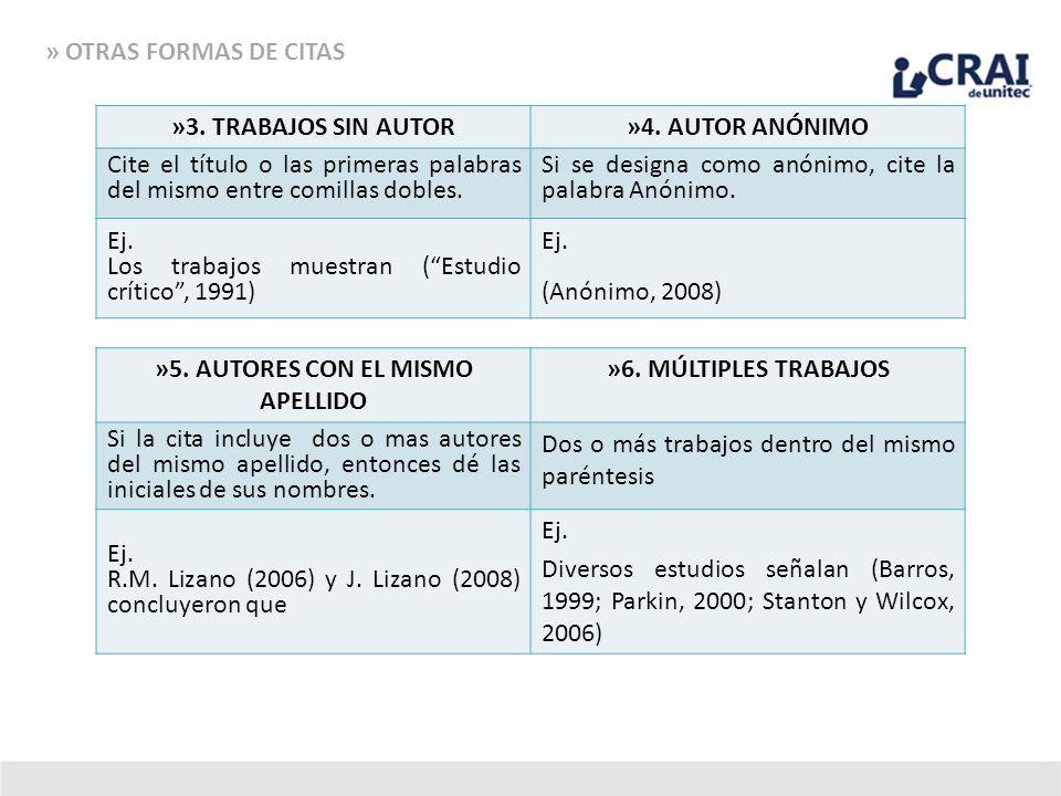 »5. AUTORES CON EL MISMO APELLIDO