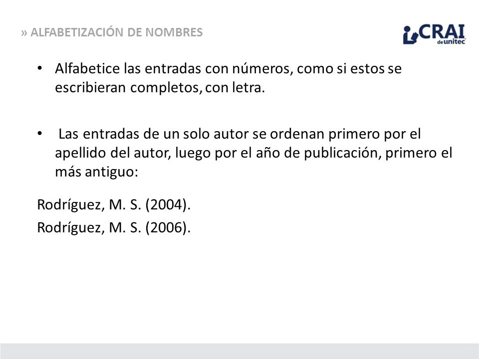 » ALFABETIZACIÓN DE NOMBRES