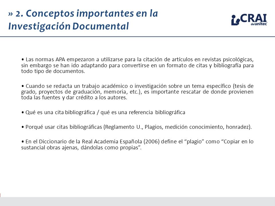 » 2. Conceptos importantes en la Investigación Documental