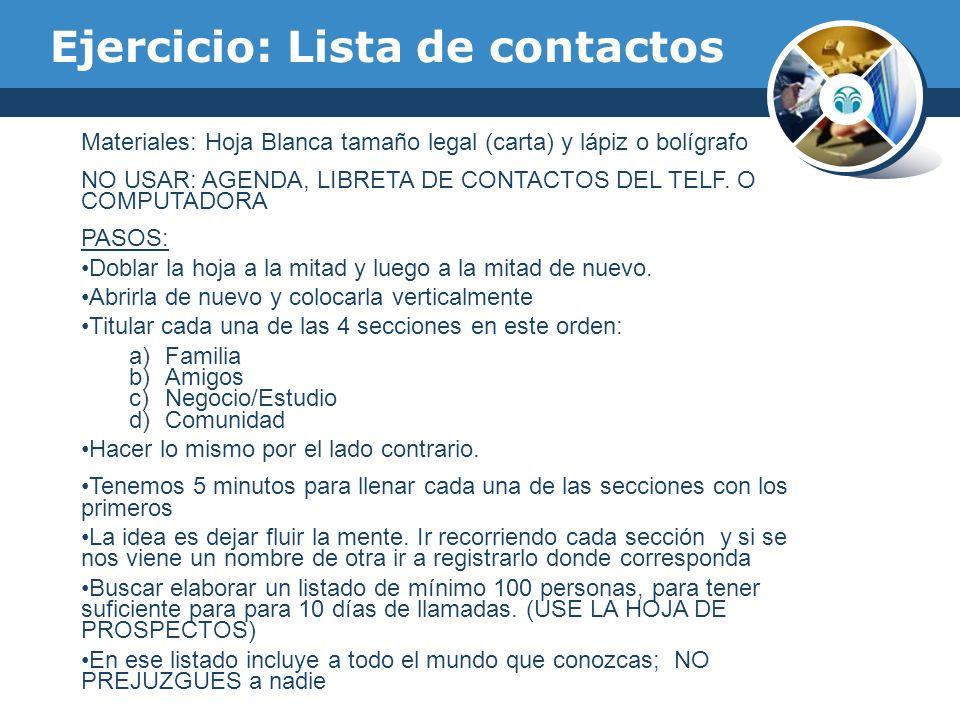 Ejercicio: Lista de contactos