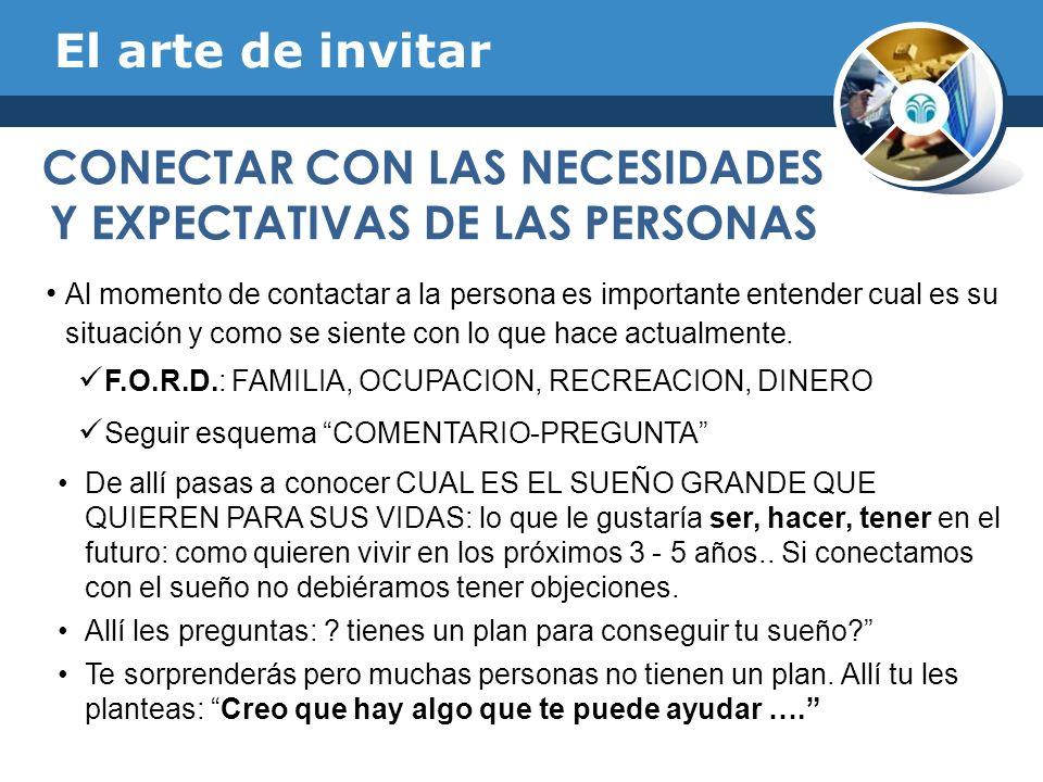 CONECTAR CON LAS NECESIDADES Y EXPECTATIVAS DE LAS PERSONAS