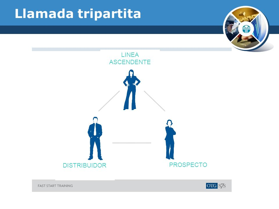 Llamada tripartita LINEA ASCENDENTE PROSPECTO DISTRIBUIDOR