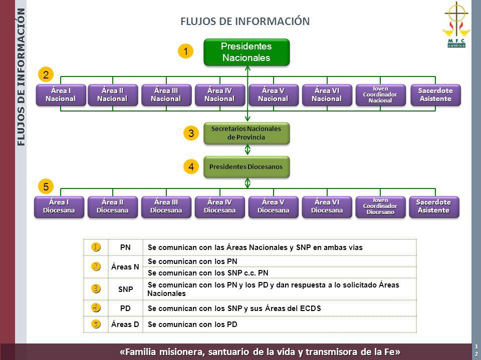 FLUJOS DE INFORMACIÓN u v w x y 1 2 3 4 5 Presidentes Nacionales