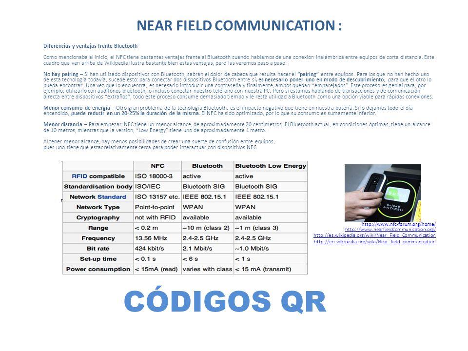 NEAR FIELD COMMUNICATION :