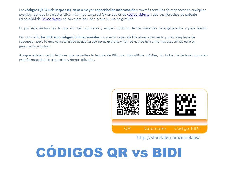 CÓDIGOS QR vs BIDI http://storelabs.com/innolabs/