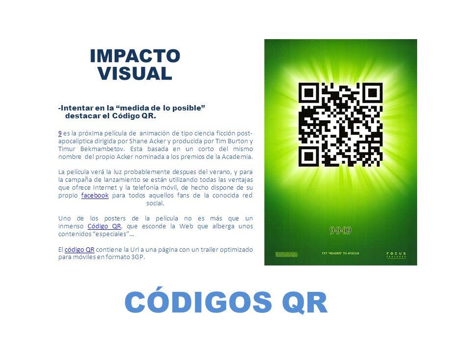 CÓDIGOS QR IMPACTO VISUAL