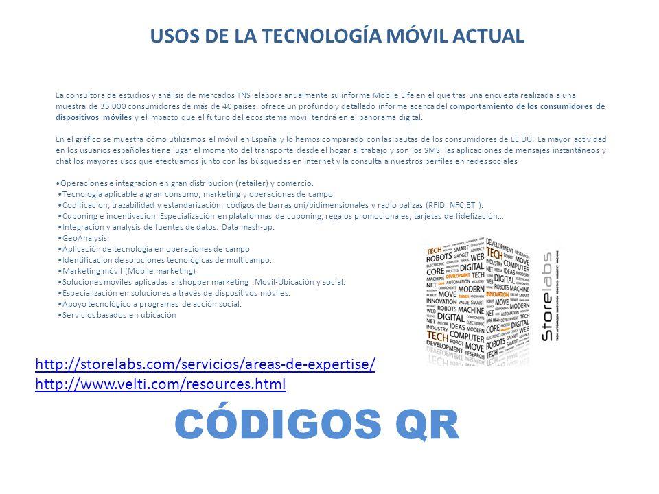 USOS DE LA TECNOLOGÍA MÓVIL ACTUAL