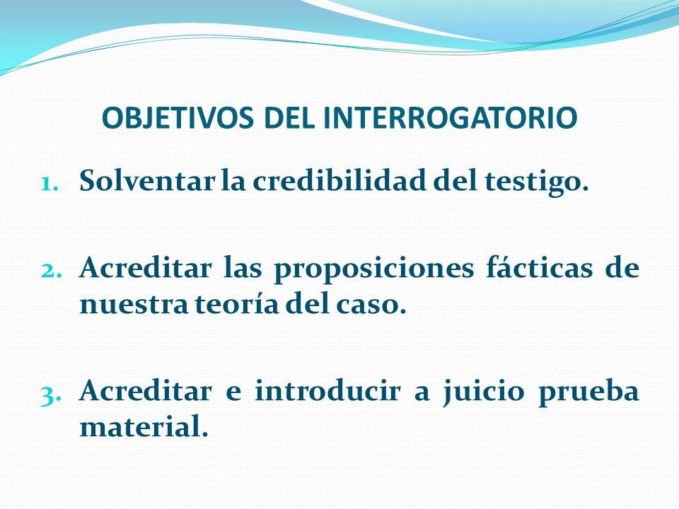 OBJETIVOS DEL INTERROGATORIO