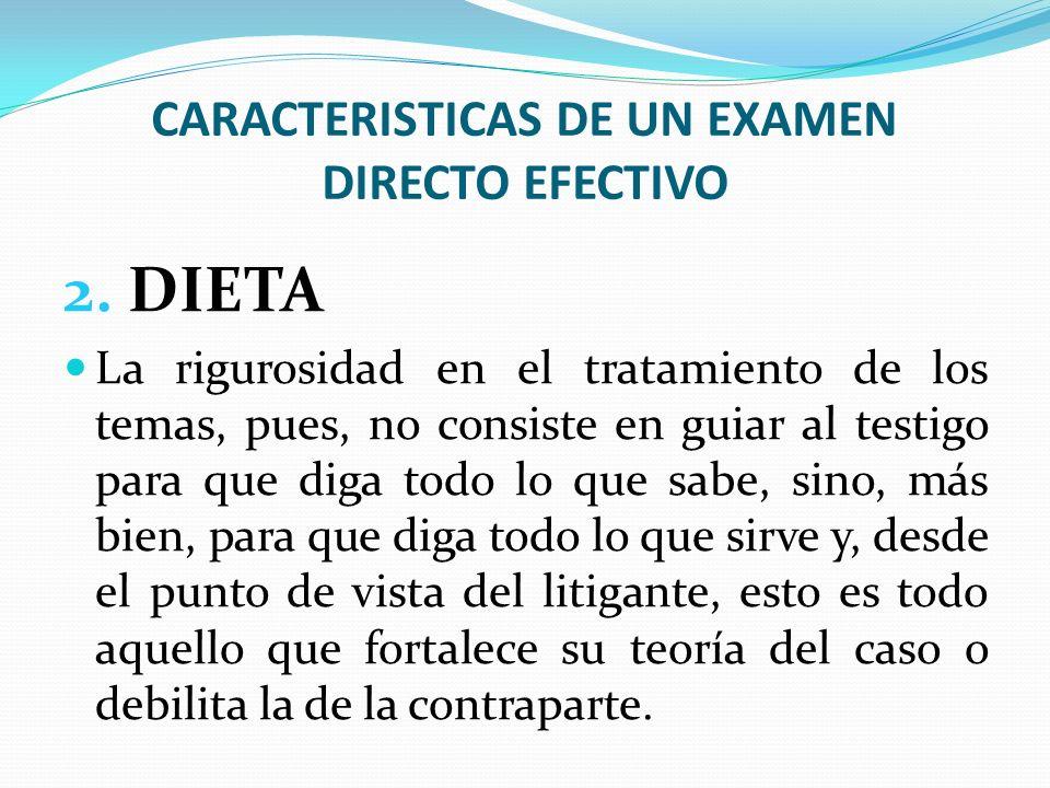 CARACTERISTICAS DE UN EXAMEN DIRECTO EFECTIVO