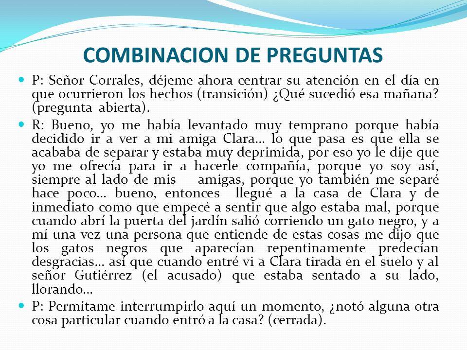 COMBINACION DE PREGUNTAS