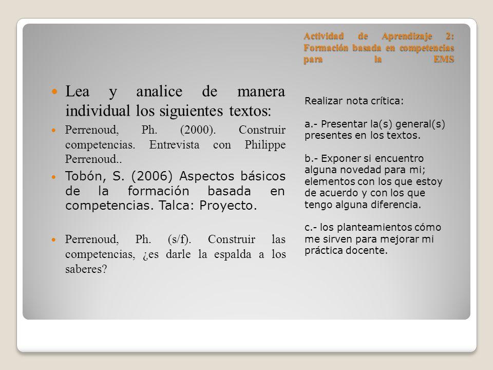 Lea y analice de manera individual los siguientes textos: