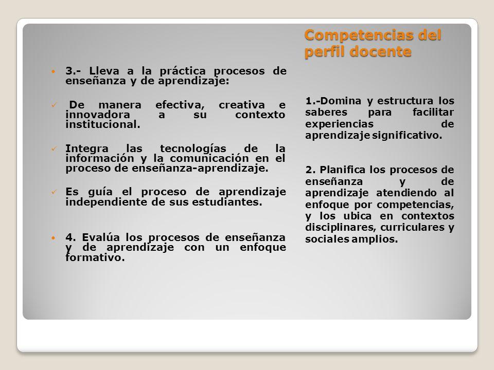 Competencias del perfil docente