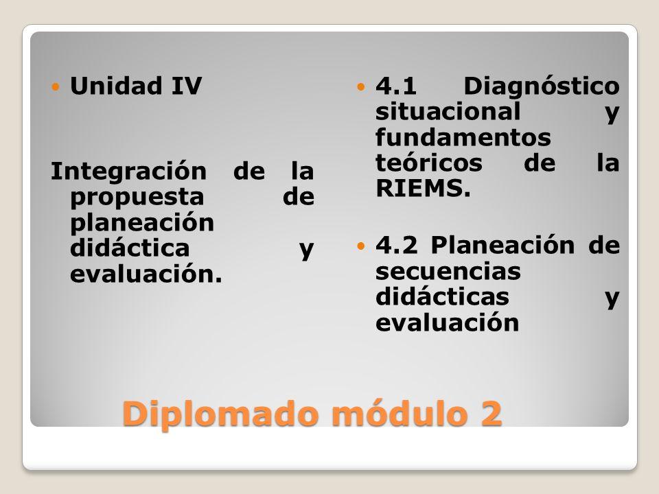 Diplomado módulo 2 Unidad IV