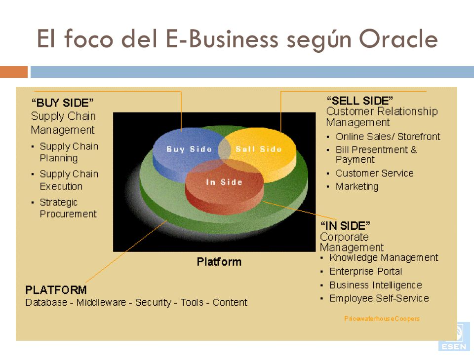El foco del E-Business según Oracle