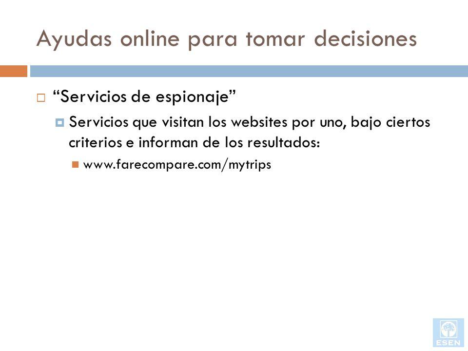 Ayudas online para tomar decisiones