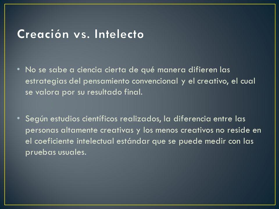 Creación vs. Intelecto