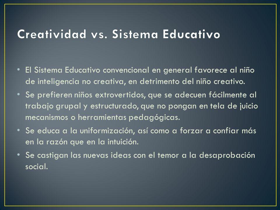 Creatividad vs. Sistema Educativo