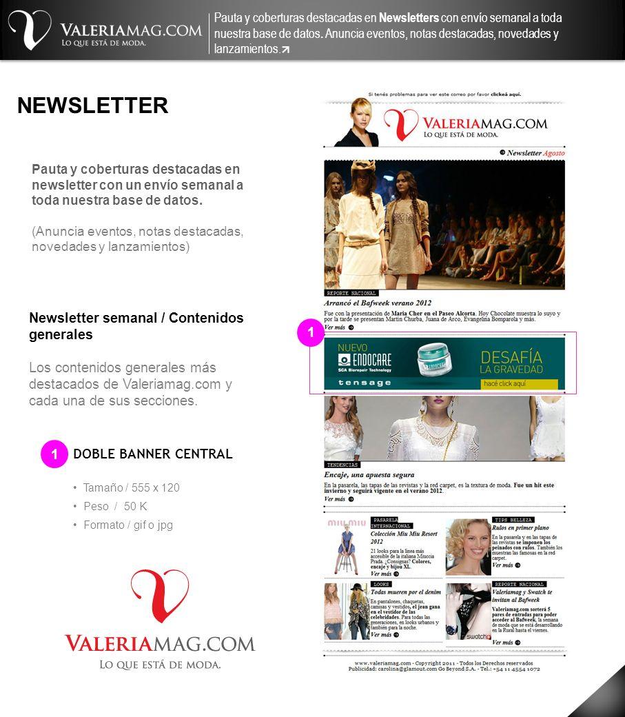 NEWSLETTER Newsletter semanal / Contenidos generales 1