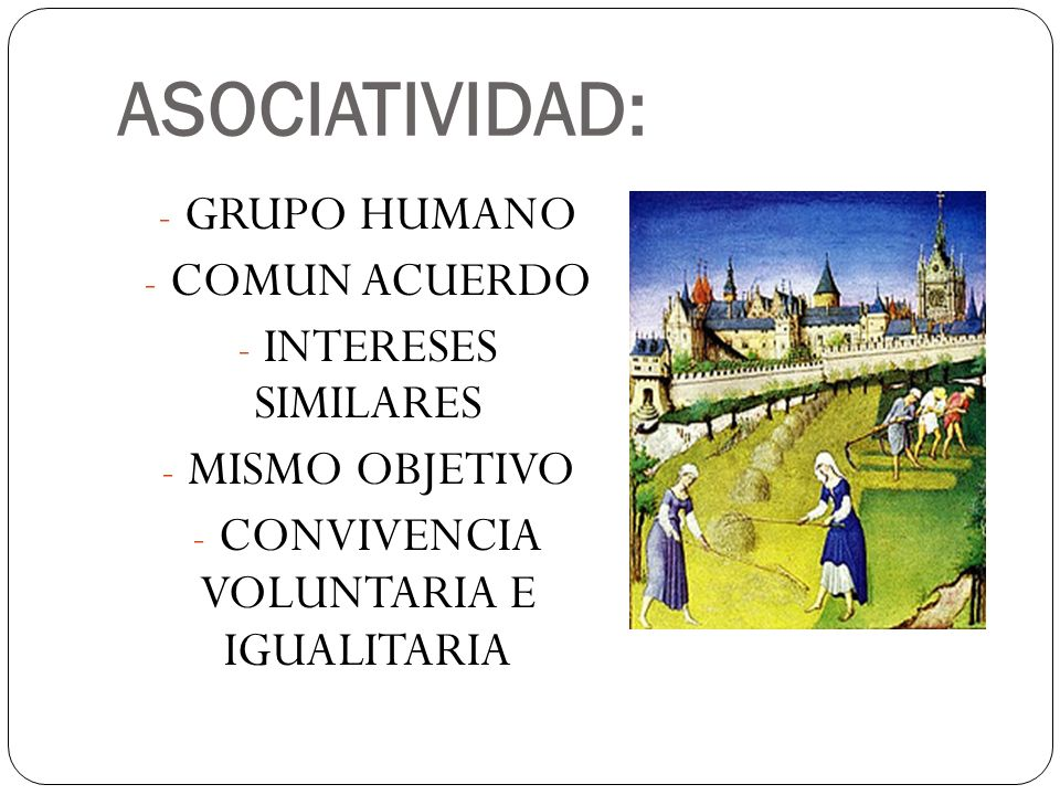 CONVIVENCIA VOLUNTARIA E IGUALITARIA