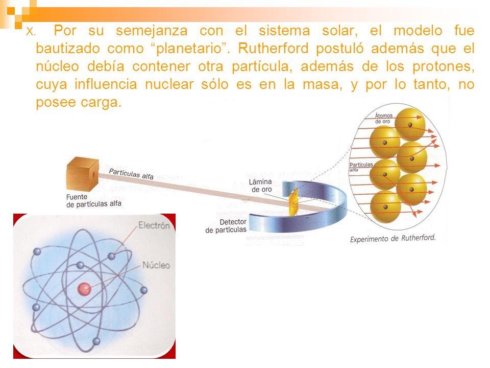 Por su semejanza con el sistema solar, el modelo fue bautizado como planetario .