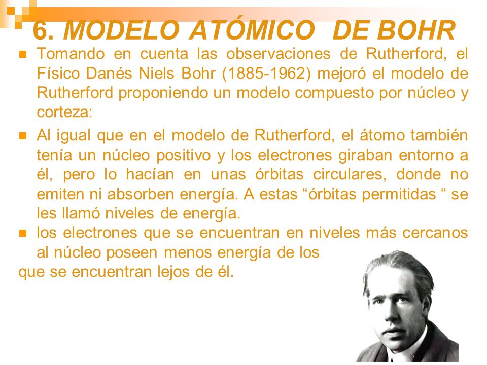 6. MODELO ATÓMICO DE BOHR